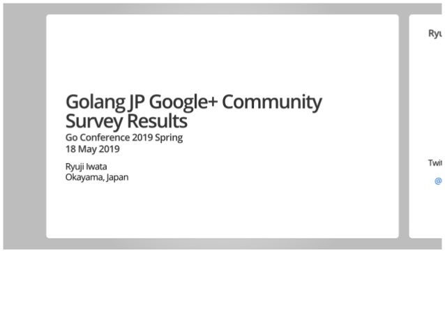 Golang JP Google+ Community Survey Results