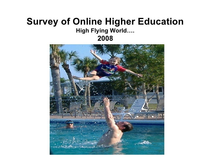 Survey of Online Higher Education High Flying World…. 2008
