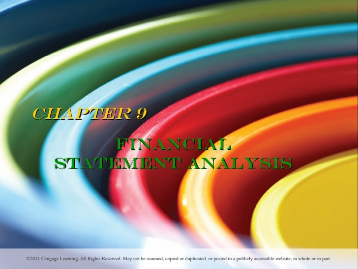 Chapter 9      Financial Statement Analysis