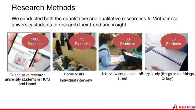 Research Methods We conducted both the quantitative and qualitative researches to Vietnamese university students to resear...