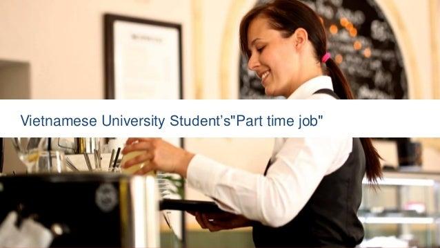 "Vietnamese University Student's""Part time job"""