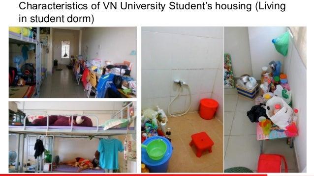 Characteristics of VN University Student's housing (Living in student dorm)