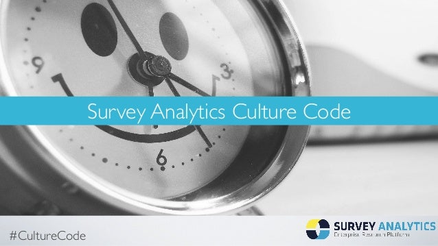 #CultureCode Survey Analytics Culture Code