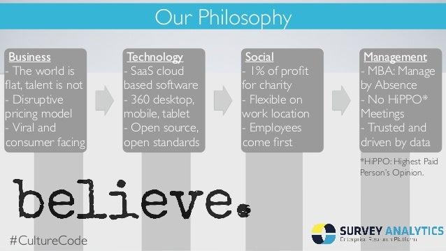 Survey Analytics Culture Code Slide 2
