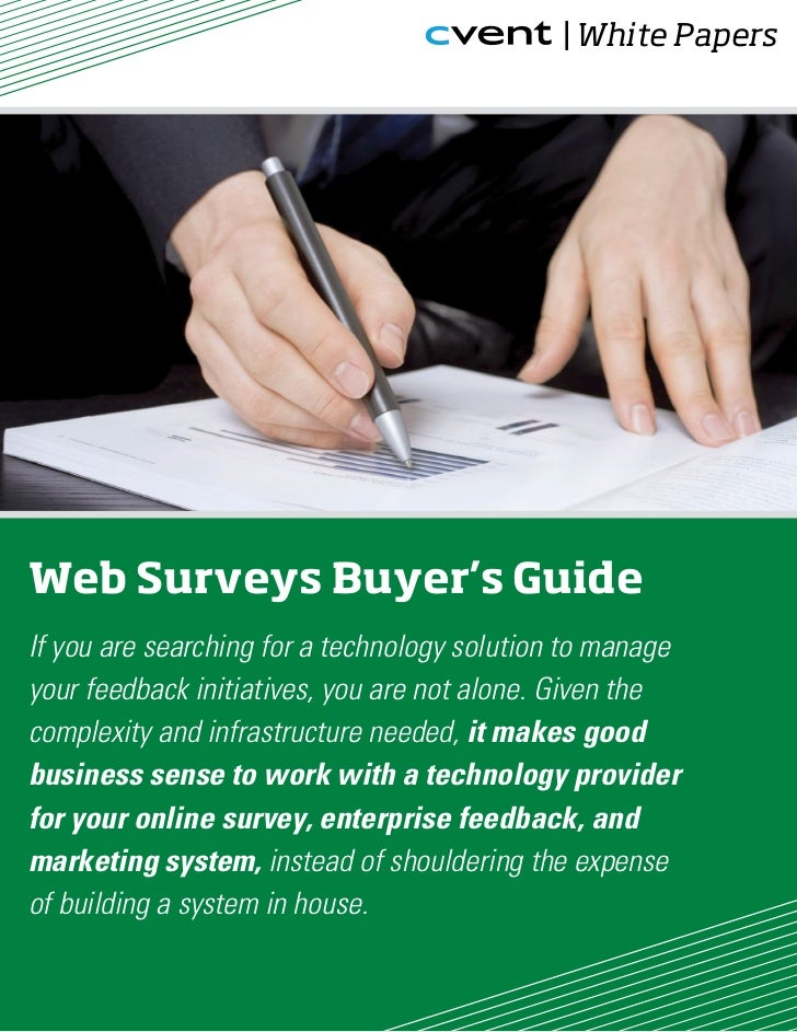 | White PapersWeb Surveys Buyer's GuideIf you are searching for a technology solution to manageyour feedback initiatives, ...