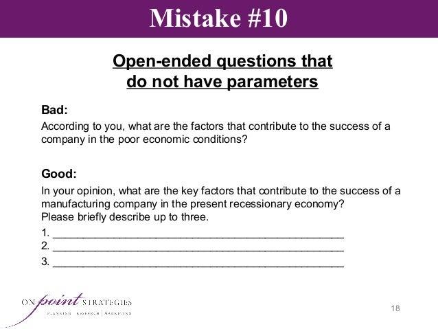 Survey Design: Avoiding the Common Pitfalls That Can
