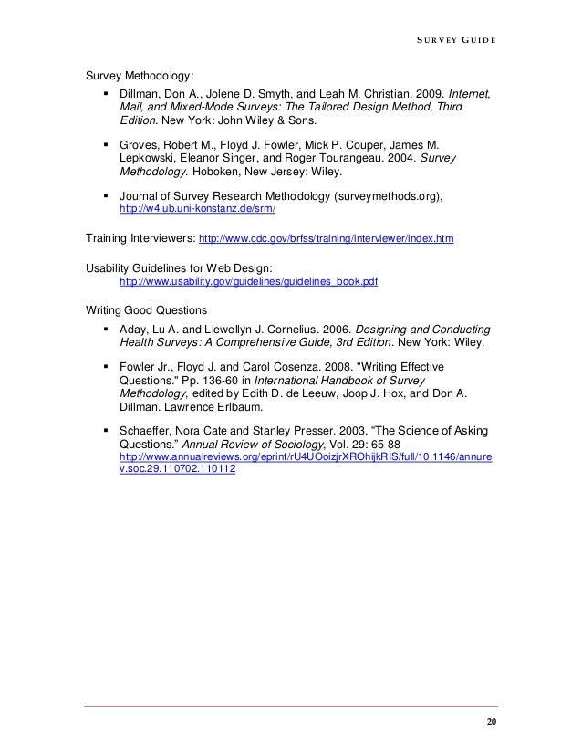 Of pdf methodology international handbook survey
