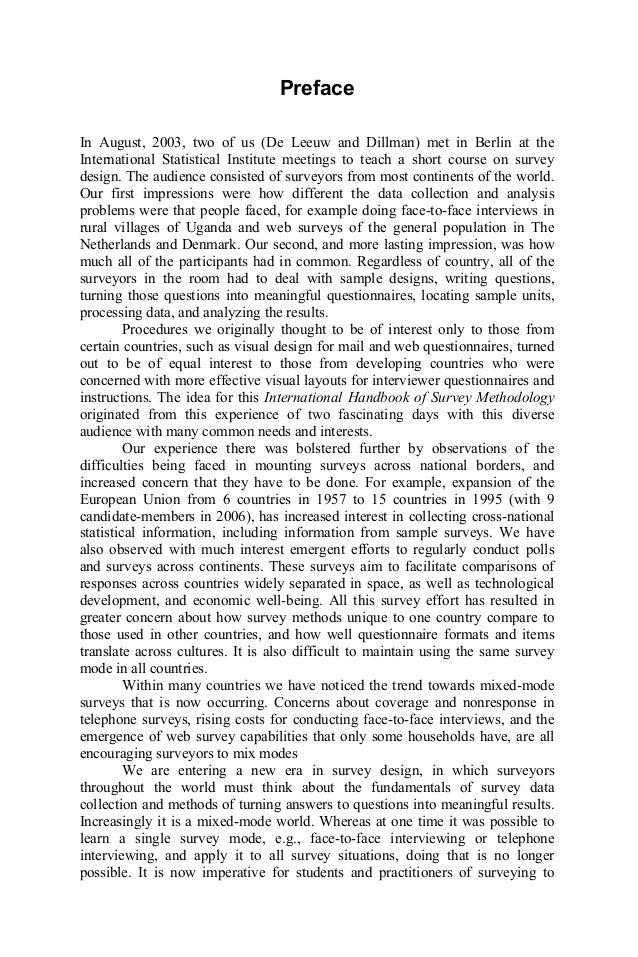 International Handbook Of Survey Methodology Pdf
