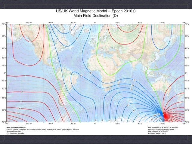 Variations In Magnetic Declination - 2017 magnetic declination map of the us
