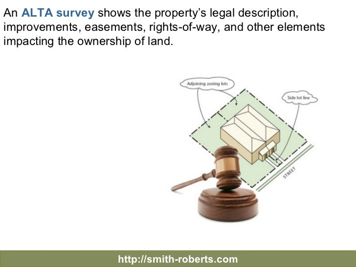 Surveying the Property - Table A - Significant Optional Survey Requirements Slide 3