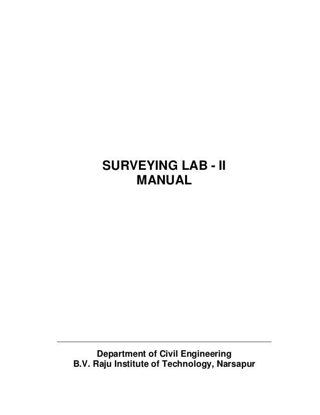 Surveying lab ii manual.