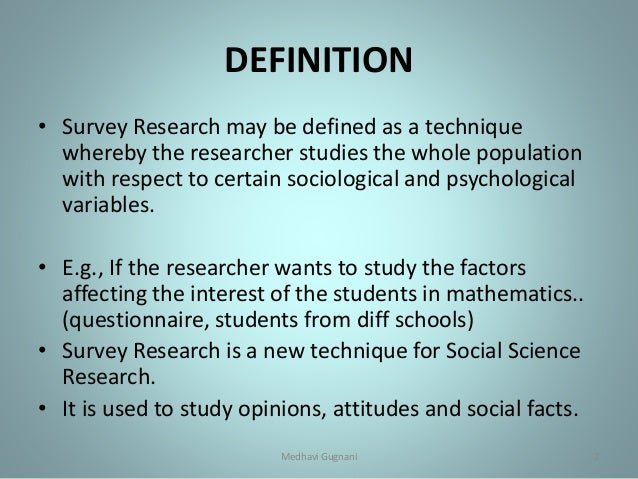 What is a Survey - Definition, Methods, Characteristics ...