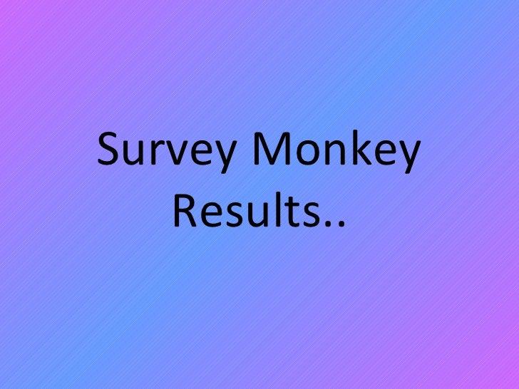 Survey Monkey Results..