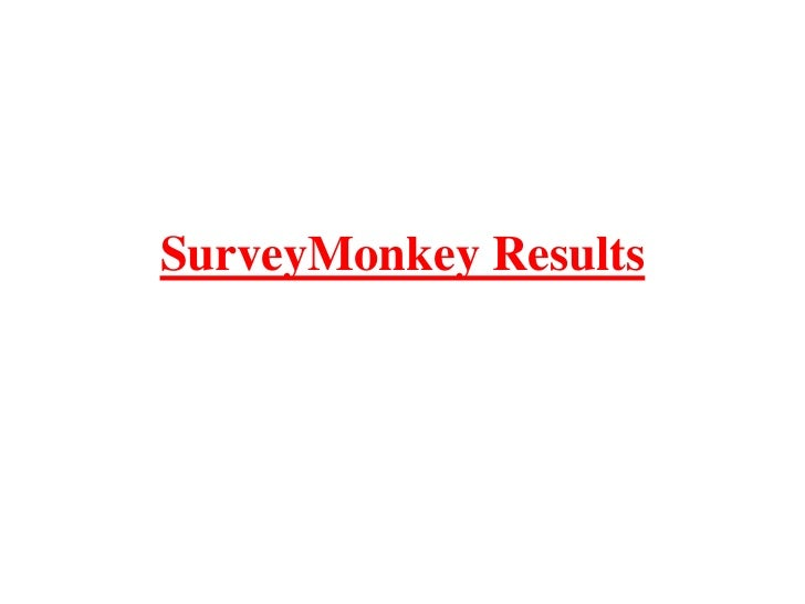 SurveyMonkey Results