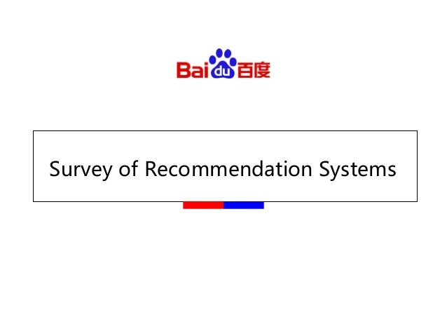 Survey of Recommendation Systems