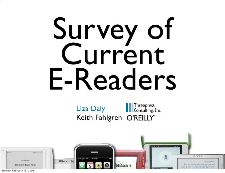 Survey of                              Current                             E-Readers                              Liza Dal...