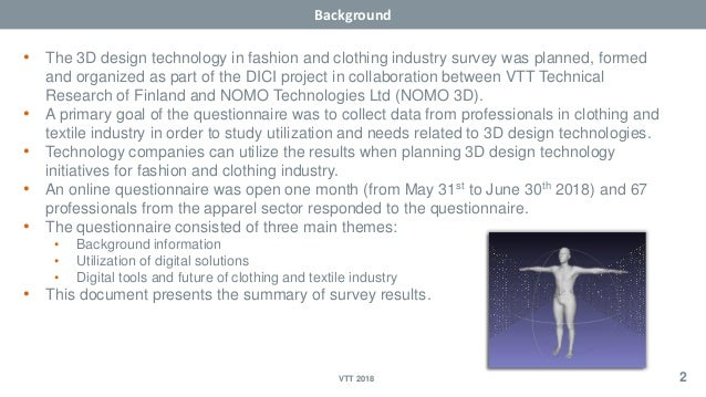 Survey of future 3D design tech in fashion & clothing industry Slide 2
