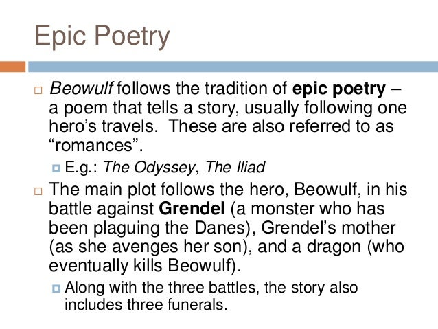 a paper on poem of beowulf Beowulf is the longest and greatest surviving anglo-saxon poem the setting of the epic is the sixth century in what is now known as denmark and southweste.