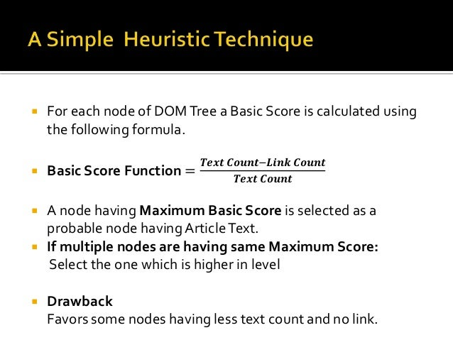Html (6,1)  Body  (6,1)  0.8  푻풆풙풕 푪풐풖풏풕 − 푳풊풏풌 푪풐풖풏풕  DIV  (5,1)  푻풆풙풕 푪풐풖풏풕  Real Article  Node  0.83 1  P  (3,0)  1 0  ...