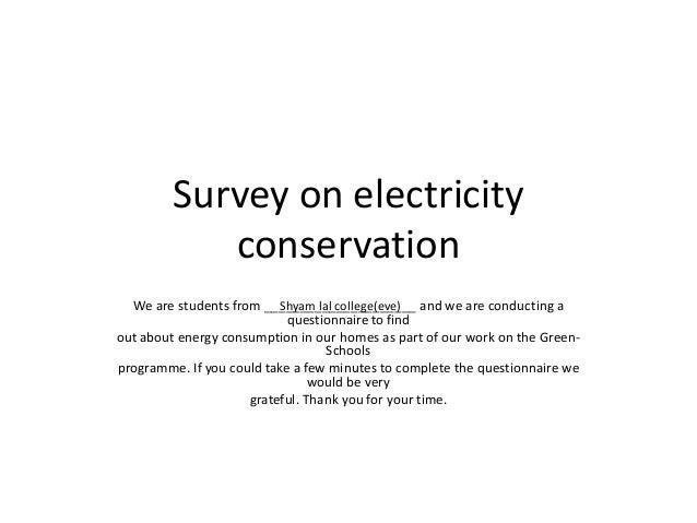 Questionnaire on electricity consumption