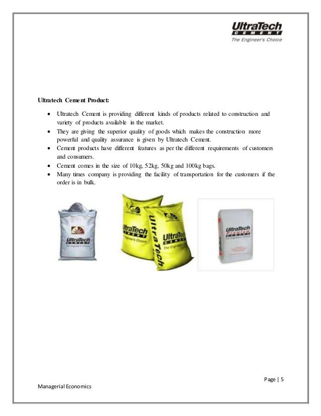 Ultratech Cement Variety : Survey on ultratech cement