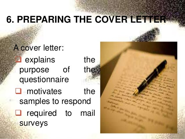 Sample of research questionnaire cover letter
