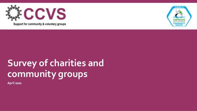 Survey of charities and community groups April 2020