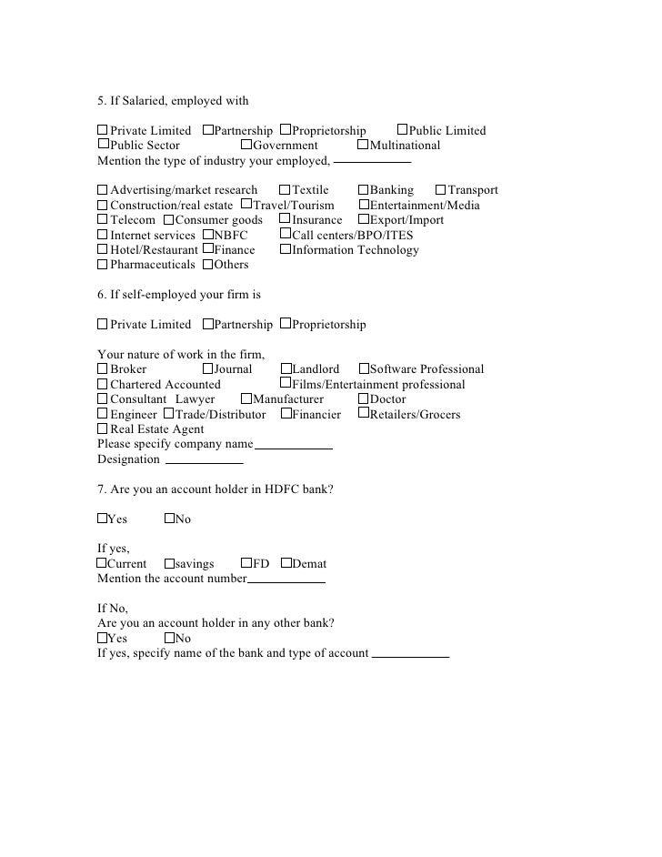 Survey questionnaire format for project