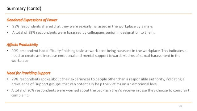 Harassment and sexual violence in the workplace