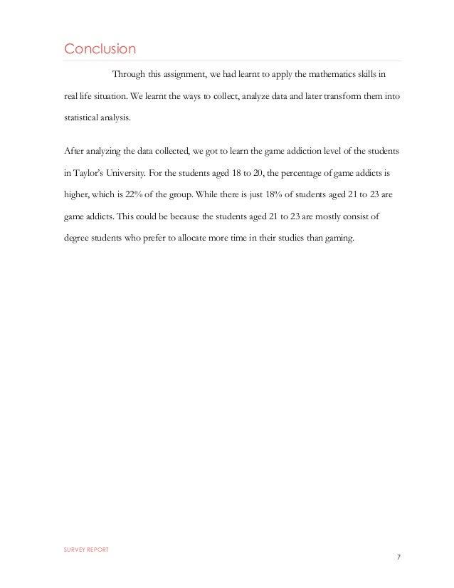 conclusion for survey report