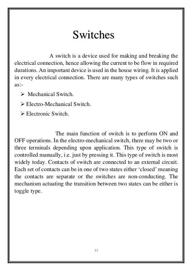 survey report on house wiring rh slideshare net electrical house wiring report electrical house wiring report