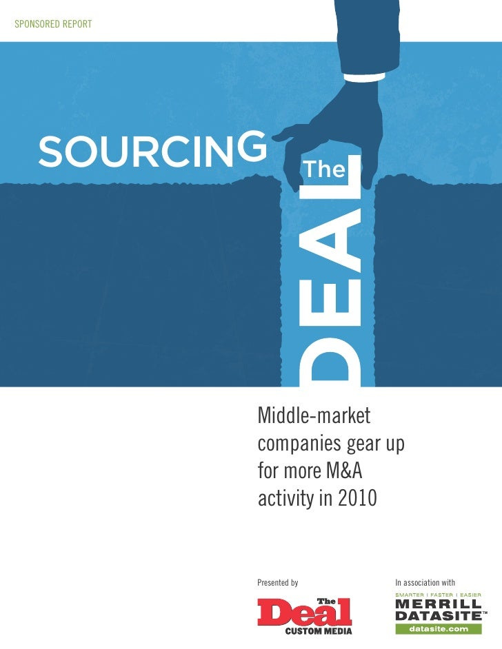 SPONSORED REPORT         SOURCING                      The                        Middle-market                    compani...