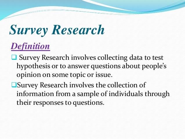 Survey Resaerch