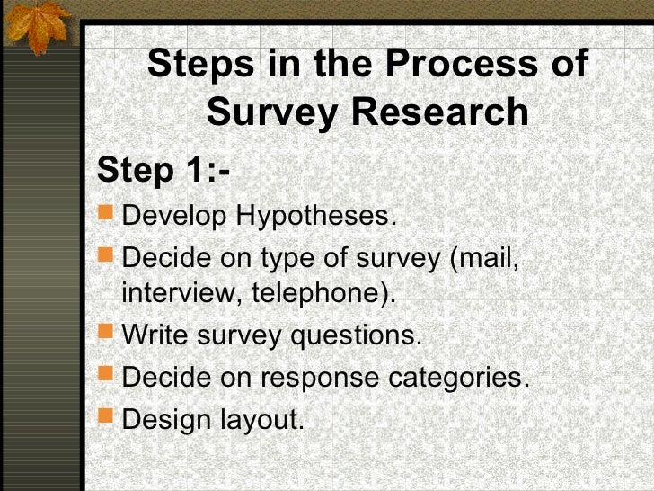 writing survey research paper In this article you will find helpful hints of how to write a research the first step in writing an academic research proposal survey if you are.