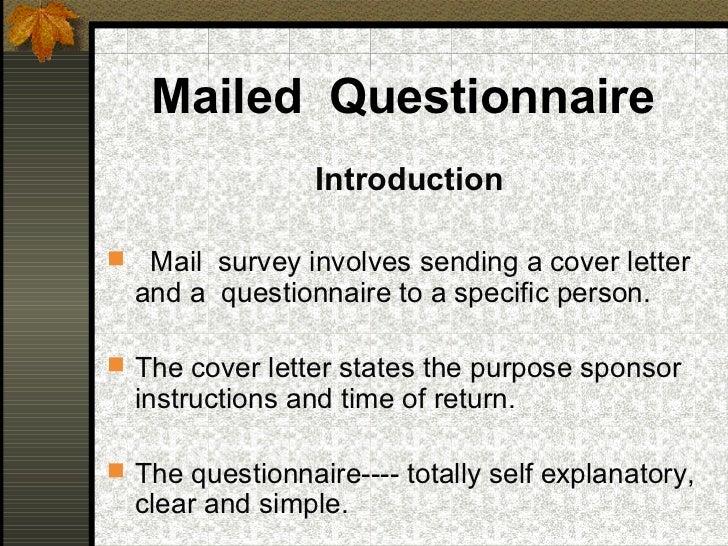 research survey cover letter