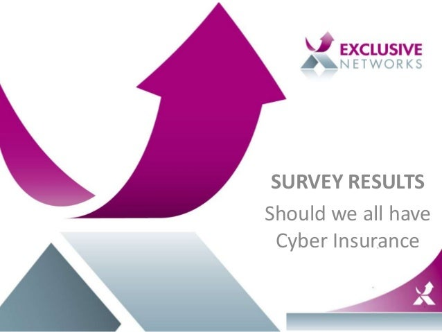 SURVEY RESULTS Should we all have Cyber Insurance