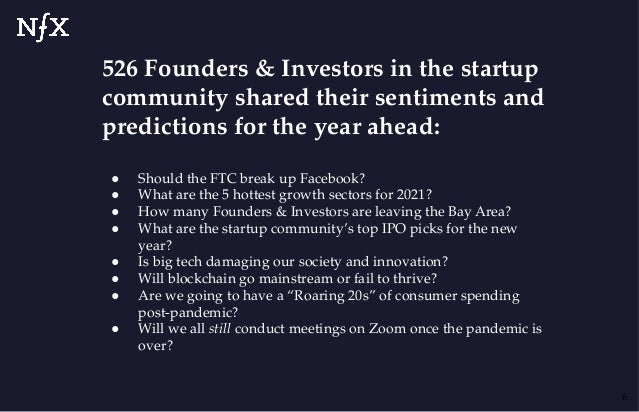 526 Founders & Investors in the startup community shared their sentiments and predictions for the year ahead: ● Should the...