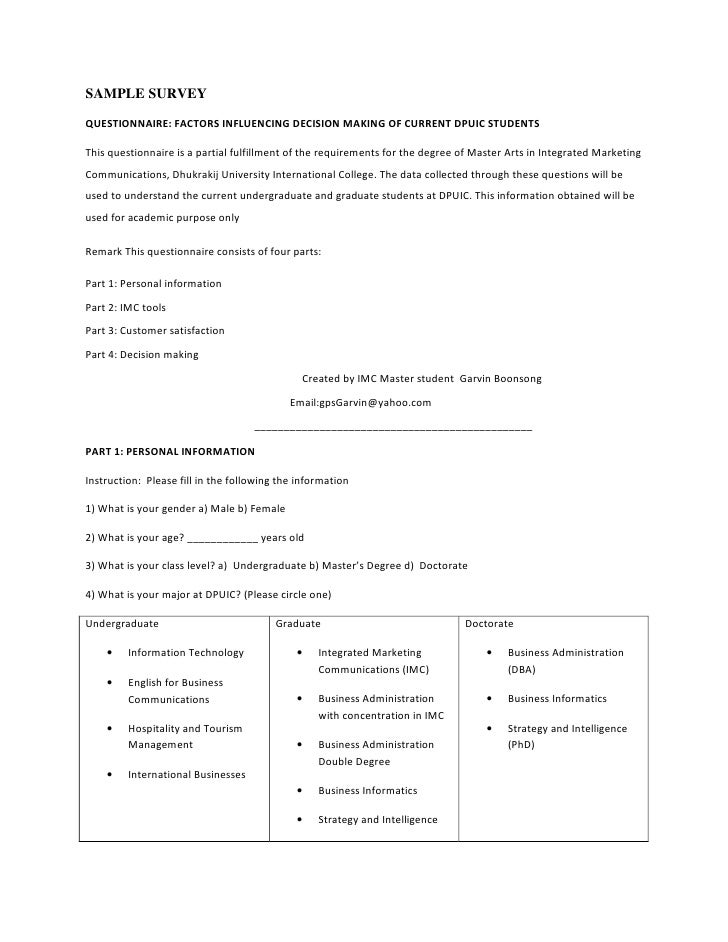 survey templates for market research