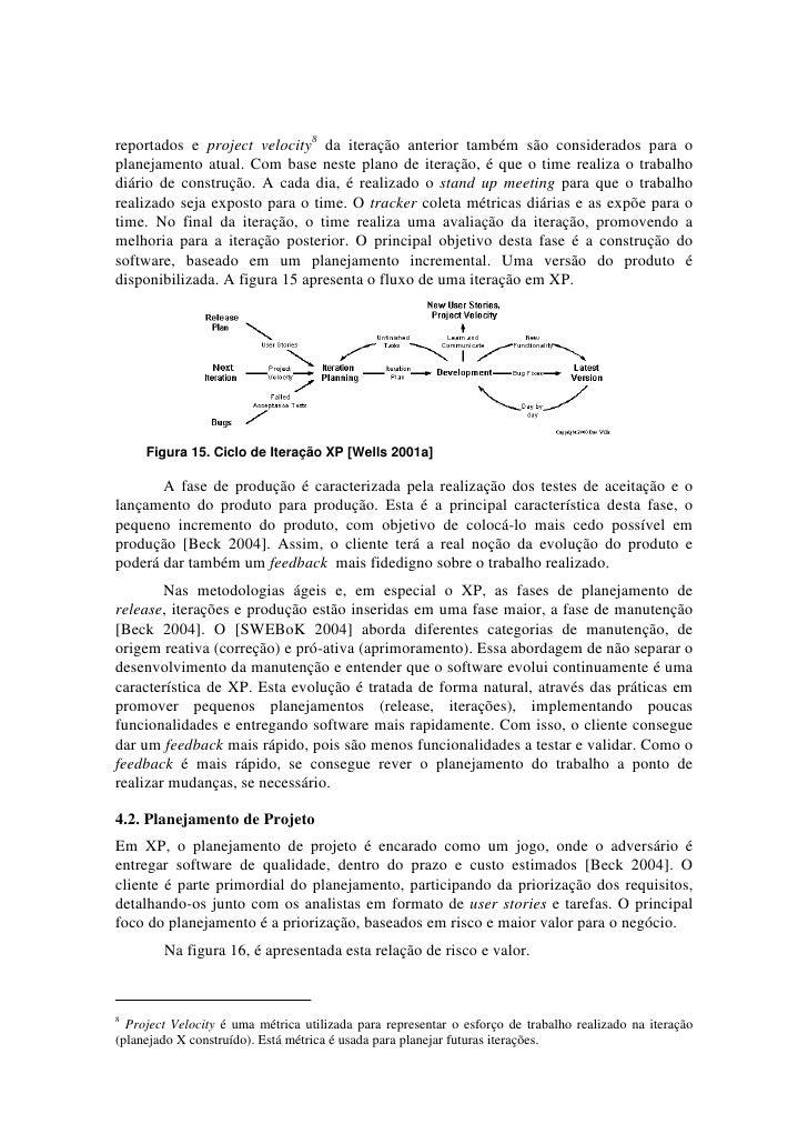 reportados e project velocity8 da iteração anterior também são considerados para oplanejamento atual. Com base neste plano...