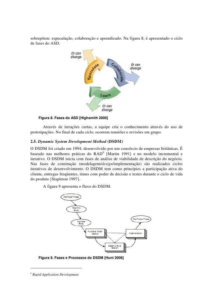 sobrepõem: especulação, colaboração e aprendizado. Na figura 8, é apresentado o ciclode fases do ASD.       Figura 8. Fase...