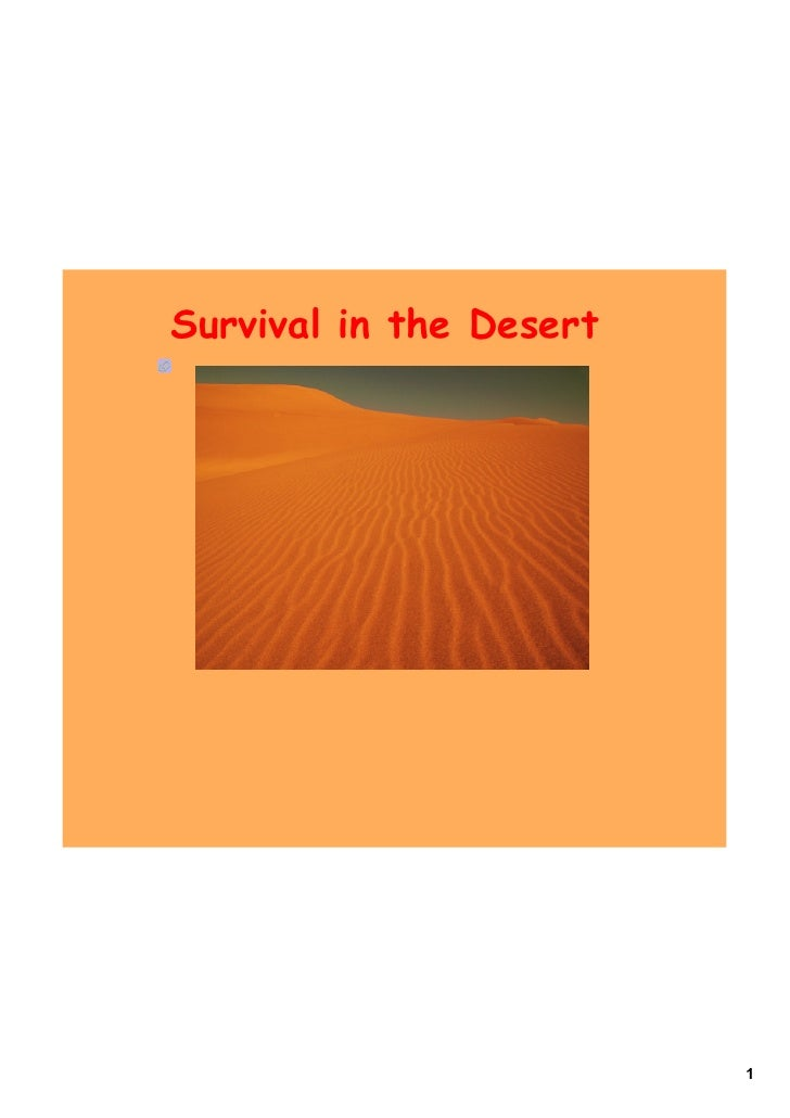 Survival in the Desert                              1