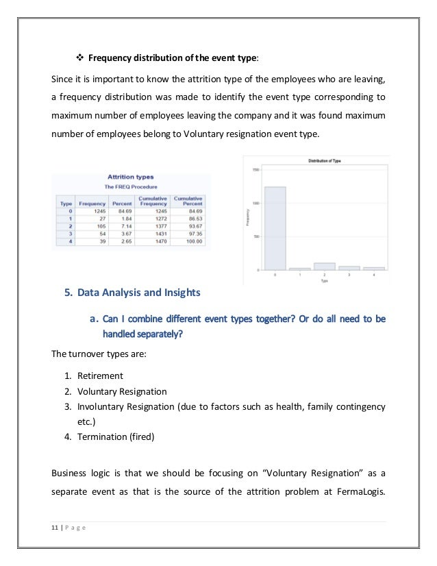 attrition analysis To perform an attrition analysis, you'll need to identify a series of factors that contribute to employee departure, develop a.