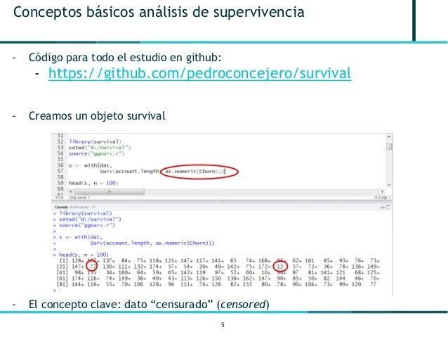 5 Conceptos básicos análisis de supervivencia - Código para todo el estudio en github: - https://github.com/pedroconcejero...