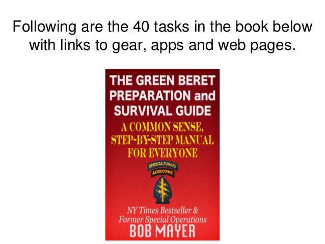 Following are the 40 tasks in the book below with links to gear, apps and web pages.