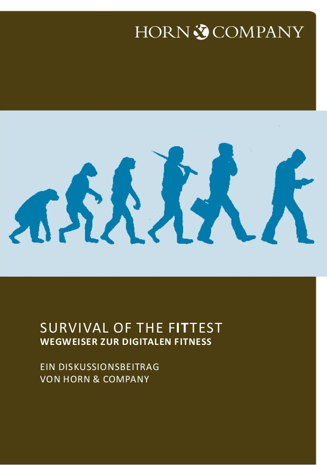 Survival of the fITtest Wegweiser zur digitalen Fitness Ein Diskussionsbeitrag von Horn & Company