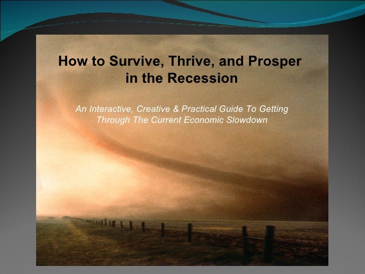 How to Survive, Thrive, and Prosper  in the Recession An Interactive, Creative & Practical Guide To Getting Through The Cu...