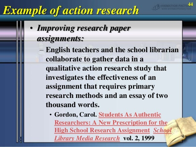 methodology in action research essay
