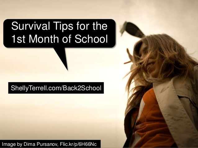 Image by Dima Pursanov, Flic.kr/p/6H66Nc ShellyTerrell.com/Back2School Survival Tips for the 1st Month of School
