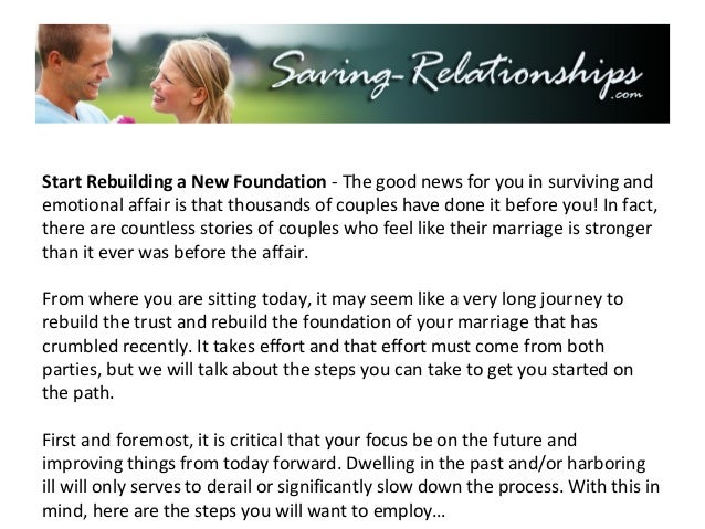 Critical first step saving your marriage