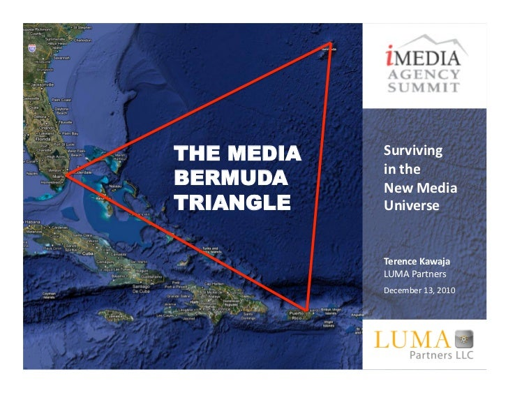 THE MEDIA   Surviving	  	              in	  the	  	  BERMUDA     New	  Media	  TRIANGLE    Universe	              Terence	...